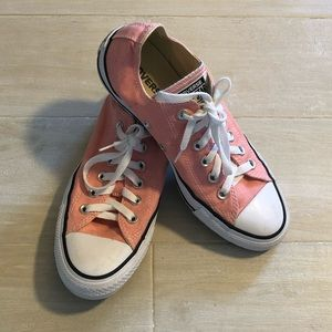 Pink Converse Low Tops